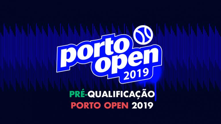 Pré-Qualificação Porto Open: quadros e ordem de jogos
